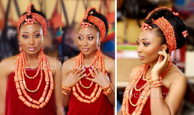 Nigerian Traditional Wedding Makeup - Beauty and the Beholder Makeovers LoveweddingsNG.jpg