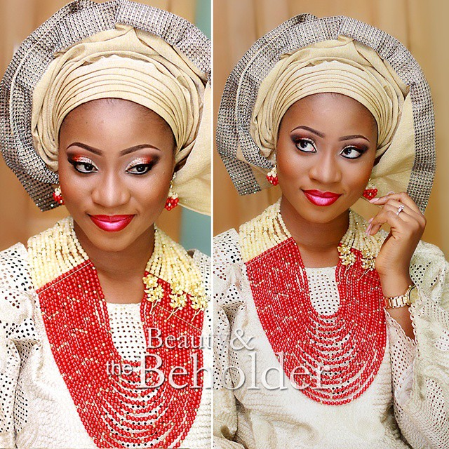 Nigerian Traditional Wedding Makeup - Beauty and the Beholder Makeovers LoveweddingsNG3