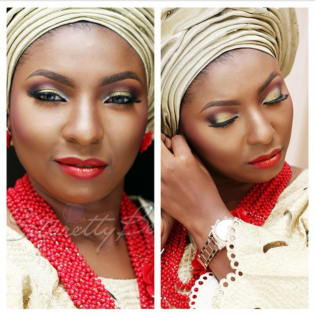 Nigerian Traditional Wedding Makeup - Sitpretty makeup Maverick LoveweddingsNG