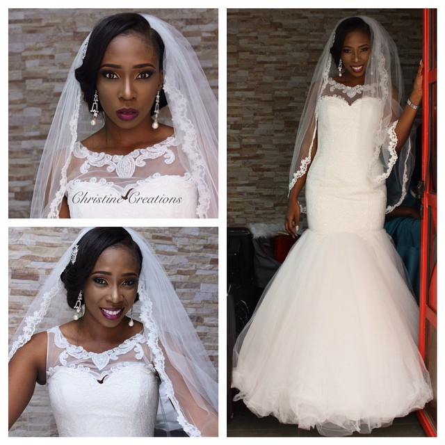 Nigerian White Wedding Makeup - Christine Creations LoveweddingsNG