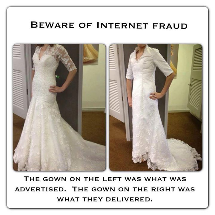Wedding Dress - What You Ordered vs What Came2