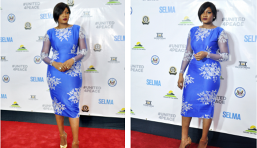 Nigerian Wedding Guest Inspiration - Omotola Jalade Ekeinde Selma LoveweddingsNG feat