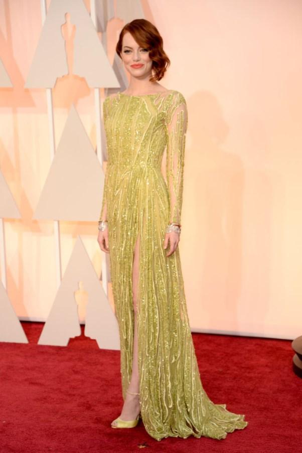 Oscars 2015 - Emma Stone in Elie Saab