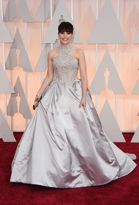 Oscars 2015 - Felicity Jones in Alexander McQueen
