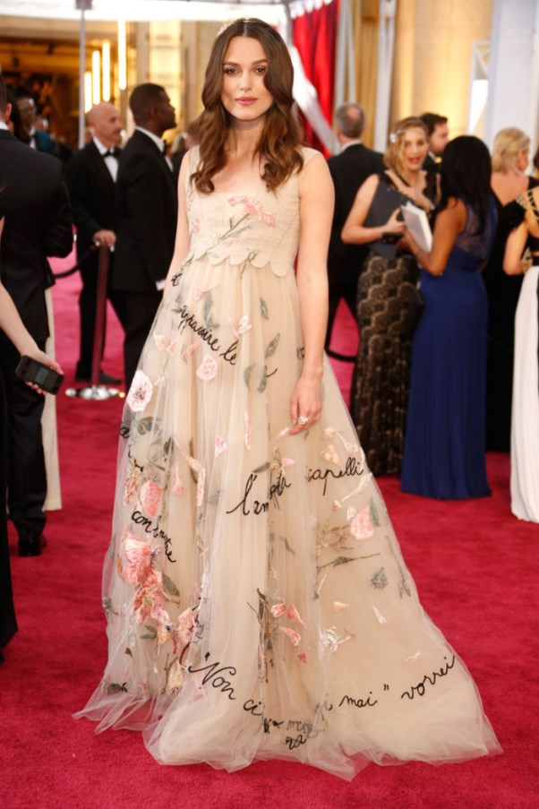 Oscars 2015 - Keira Knightley in Valentino