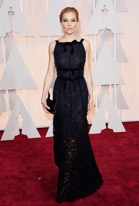 Oscars 2015 - Sienna Miller in Oscar de la Renta