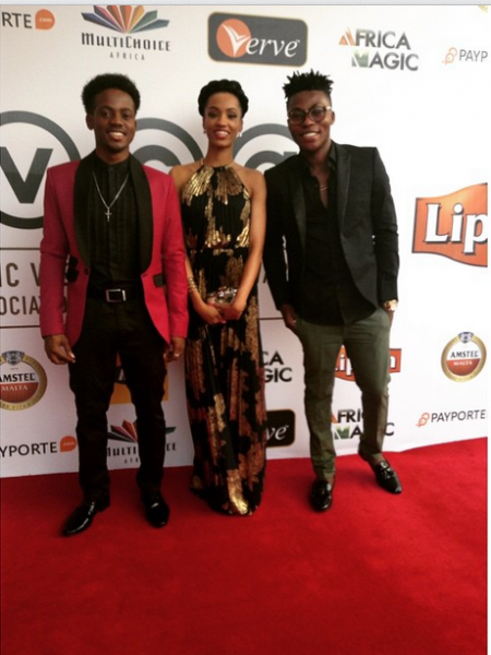 AMVCA 2015 - Korede Bello, Di'Ja & Reekado Banks LoveweddingsNG Red Carpet to Aisle
