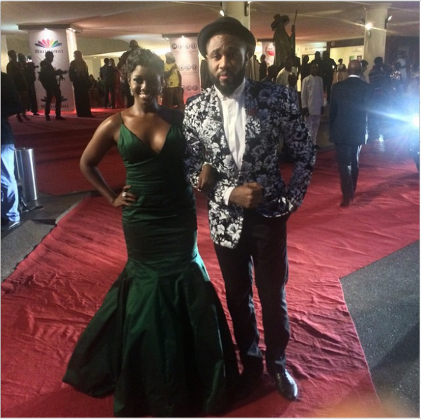 AMVCA 2015 - Tonye & Praiz LoveweddingsNG Red Carpet to Aisle