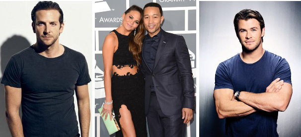 Bradley Cooper, John Legend, Chrissy Teigen, Chris Hemsworth