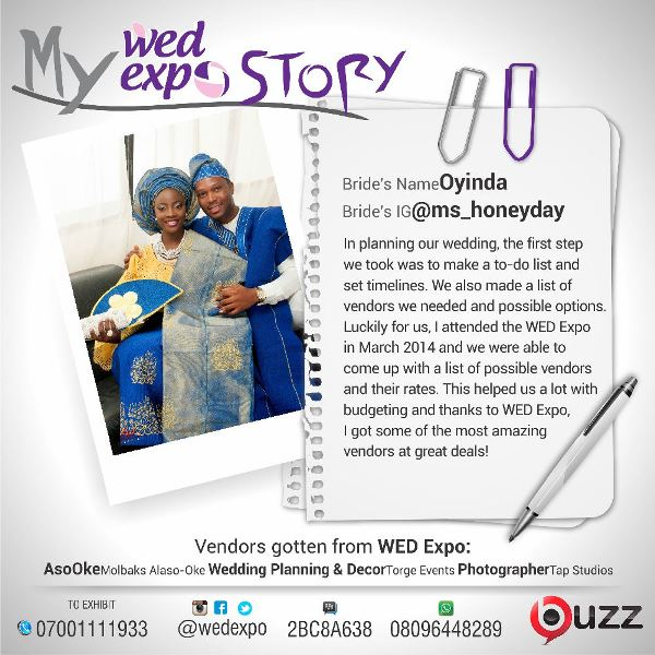 LoveweddingsNG Wed Expo Story - Oyinda