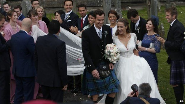 Andy Murray and Kim Sears LoveweddingsNG