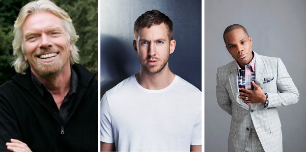 Richard Branson, Calvin Harris, Kirk Franklin LoveweddingsNG