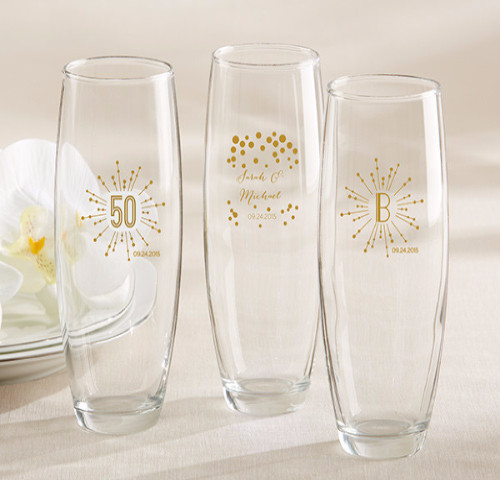 The Artisans Gift Company Anniversary LoveweddingsNG - Stemless Champagne Glass