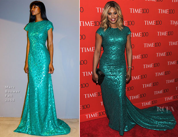 Time 100 Gala - 2015 - Laverne Cox - Marc Bouwer LoveweddingsNG