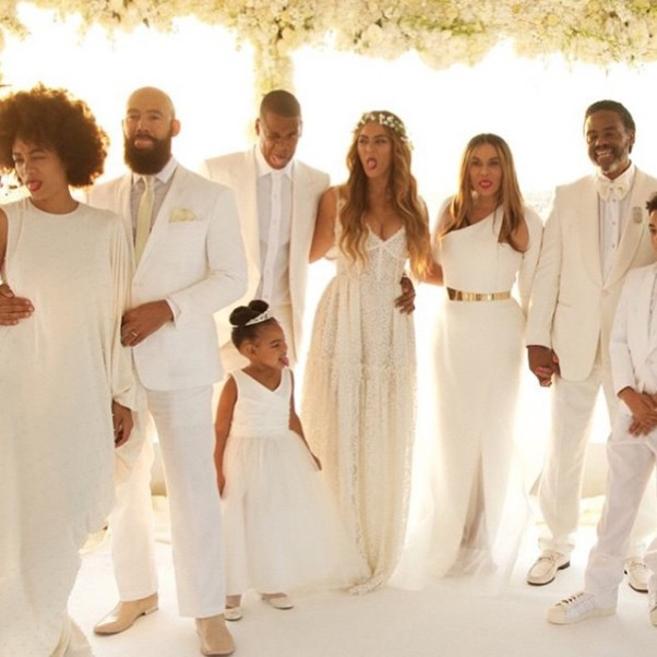 Tina Knowles Wedding Dress