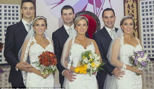 Triplets Wed in Brazil LoveweddingsNG3