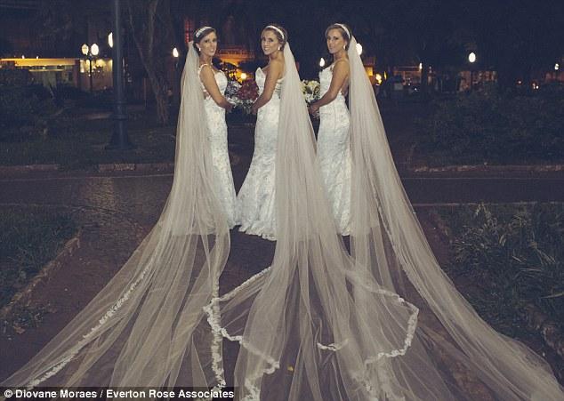 Triplets Wed in Brazil LoveweddingsNG4