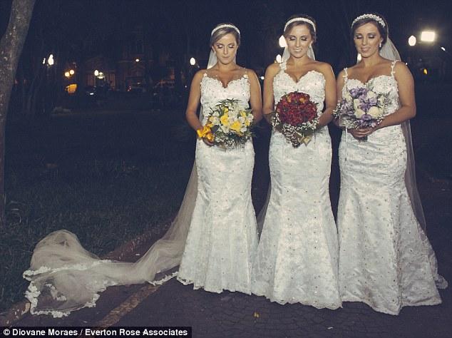 Triplets Wed in Brazil LoveweddingsNG5