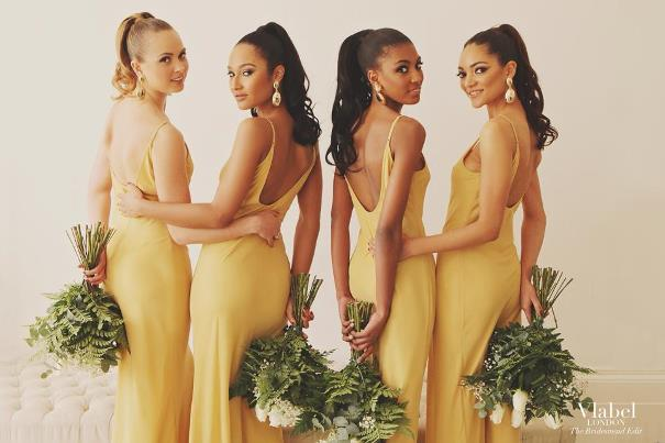VLabel London The Bridesmaids Edit - River Gold LoveweddingsNG