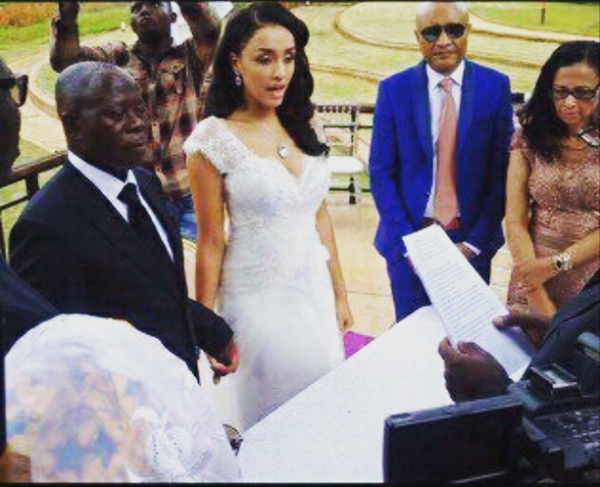 Governor Adams Oshiomole weds Lara Fortes LoveweddingsNG6