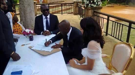 Governor Adams Oshiomole weds Lara Fortes LoveweddingsNG8