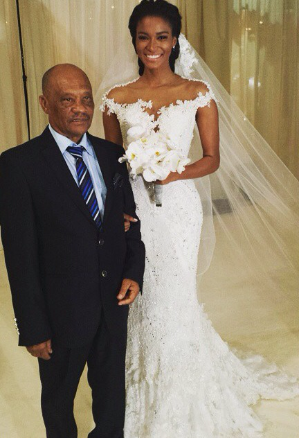 Leila Lopes and Osi Umenyiora LoveweddingsNG1
