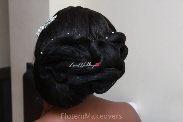 Nigerian Bridal Hair Inspiration Flotem Makeovers LoveweddingsNG1