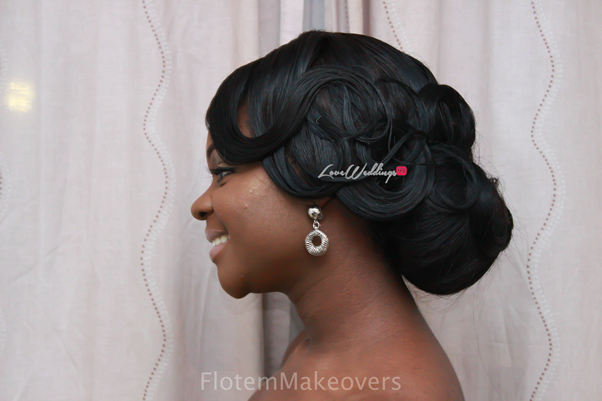 Nigerian Bridal Hair Inspiration Flotem Makeovers LoveweddingsNG19