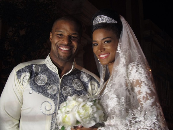 Osi Umenyiora weds Leila Lopes LoveweddingsNG1