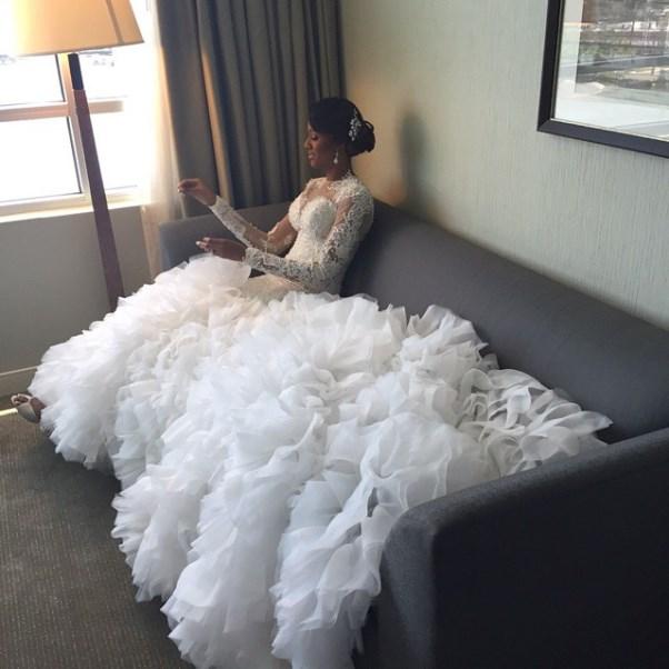 Osi Umenyiora's Sister Weds - Leila Lopes & Osi Umenyiora LoveweddingsNG2
