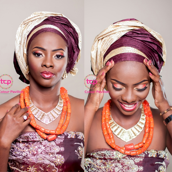 Traditional Bridal Makeup Tomis Colour Pavillion LoveweddingsNG1