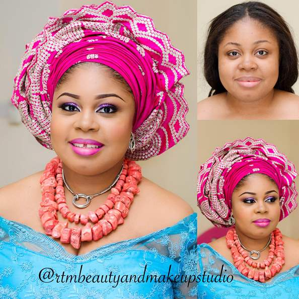 LoveweddingsNG Before and After Makoevers RTM Beauty and Makeup Studio