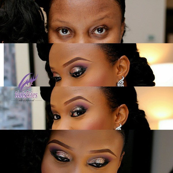 LoveweddingsNG Before and After Tints and Ties Makeup1