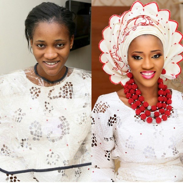 LoveweddingsNG Before and After Zainab Azeez