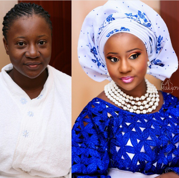 LoveweddingsNG Before and After zainab azeex