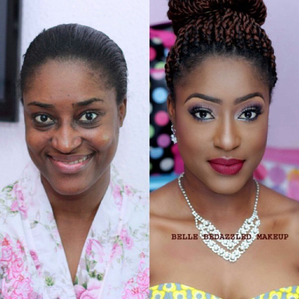 LoveweddingsNG Before meets After Makeovers - Belle Bedazzled