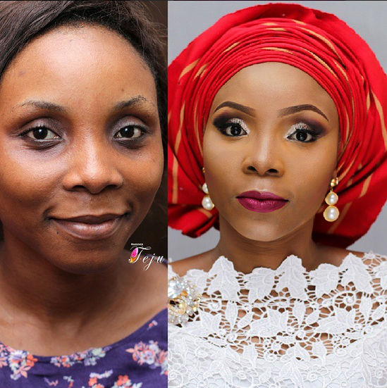 LoveweddingsNG Before meets After Makeovers - Makeovers by Teju