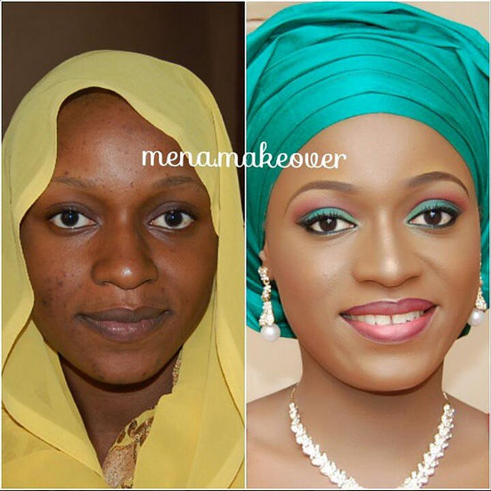 LoveweddingsNG Before meets After Makeovers - Mena Makeover
