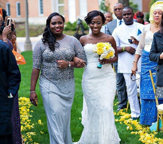 LoveweddingsNG Sister Walks Bride Down The Aisle