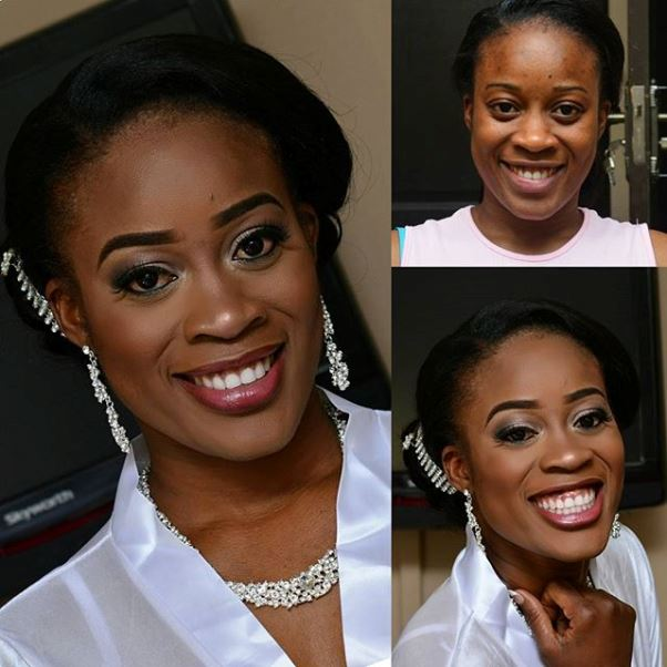 LoveweddingsNG Before and After - B-Dash Makeup Artistry