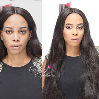 LoveweddingsNG Before and After - Christine Signatures1