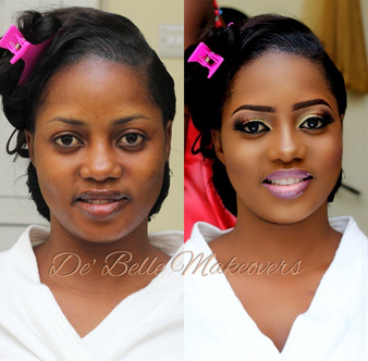 LoveweddingsNG Before and After - Debelle Makeovers