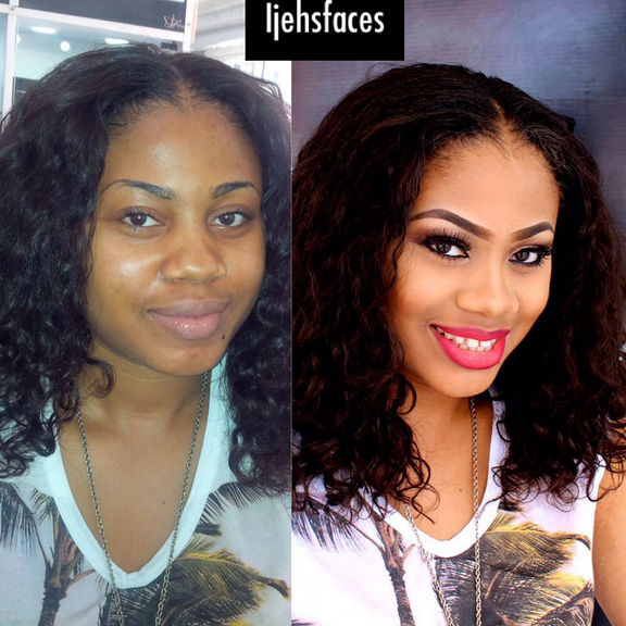 LoveweddingsNG Before and After - Ijehs Faces