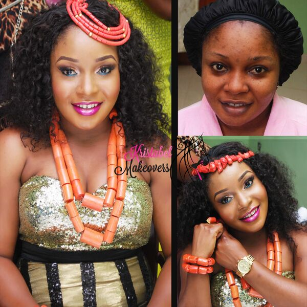 LoveweddingsNG Before and After - Kristabel Makeovers