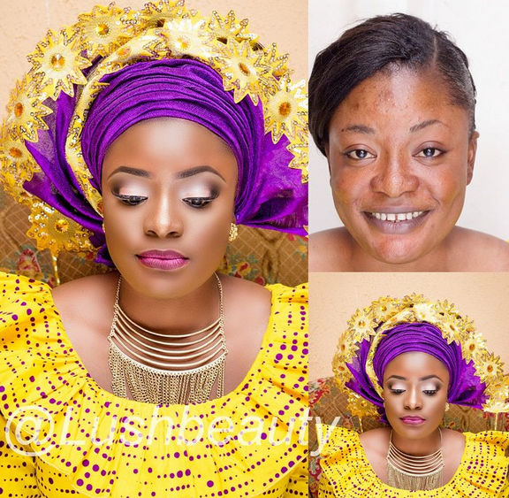 LoveweddingsNG Before and After Lush Beauty