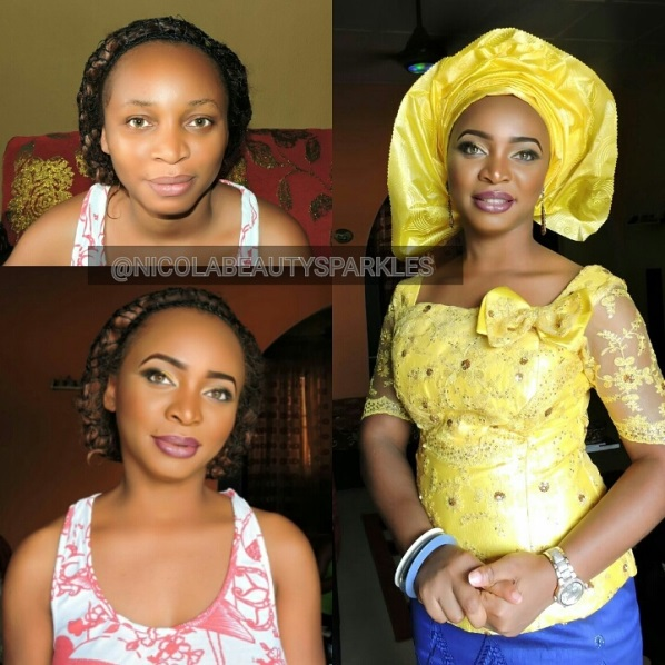 LoveweddingsNG Before and After Nicola Beauty Sparkles
