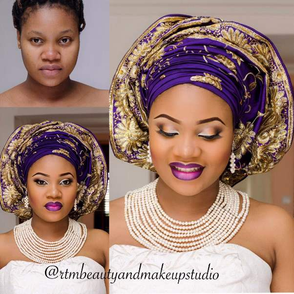 LoveweddingsNG Before and After - RTM Beauty and Makeup Studio