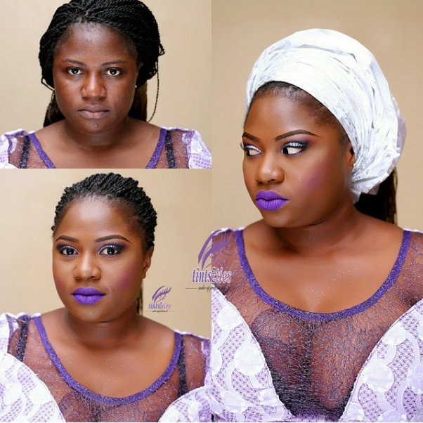 LoveweddingsNG Before and After - Tints & Ties Makeup