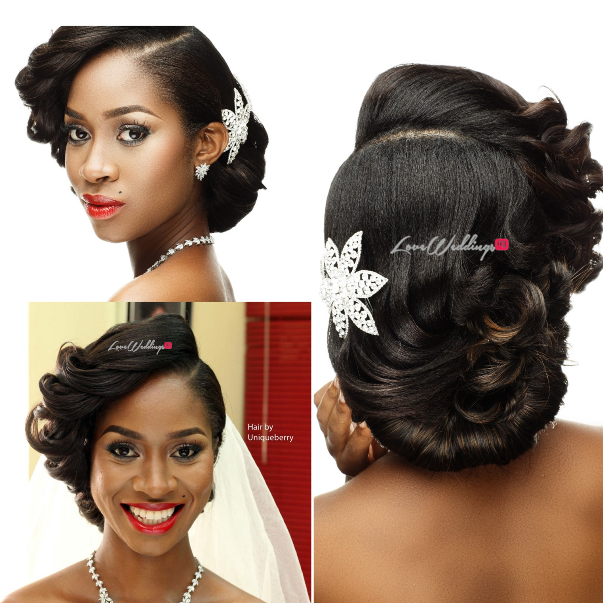 Nigerian Bridal Hair Inspiration Uniqueberry Hair - LoveweddingsNG1