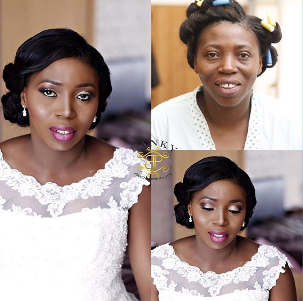 LoveweddingsNG Before and After - Banky Pro Beauty
